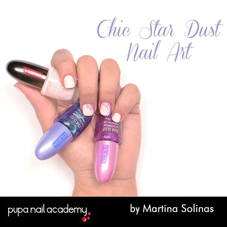#pupanailacademy #nailart #Chic #stardust