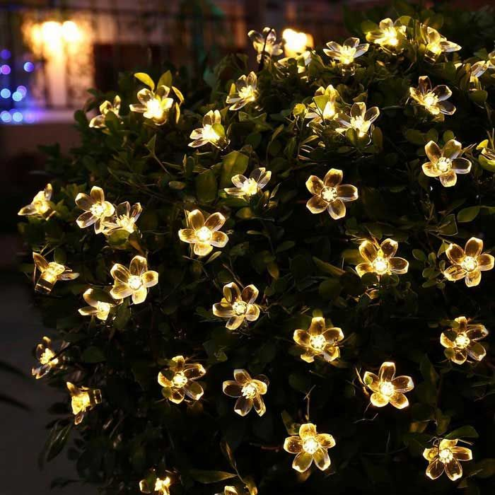 Outdoors & Indoor Flower Starry String Lights 33ft 80LED Decorative Light for Christmas Tree,Garden