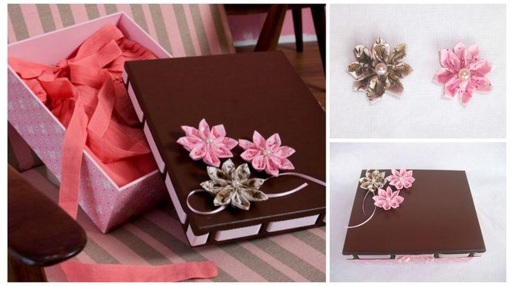 Aprende cómo decorar cajas de regalo con flores de tela