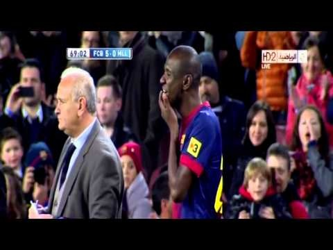 Eric Abidal Return  after 1 year ( Barcelona v Mallorca ) 06/04/2013