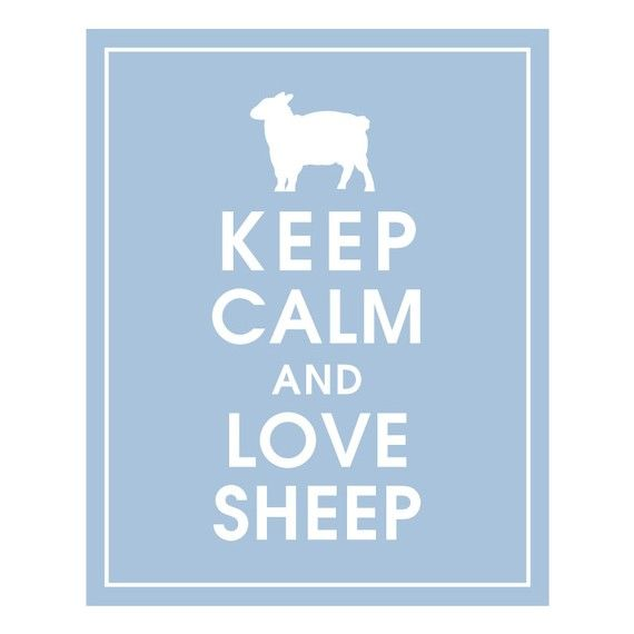 Keep Calm and Love Sheep - Counting Sheep that is....