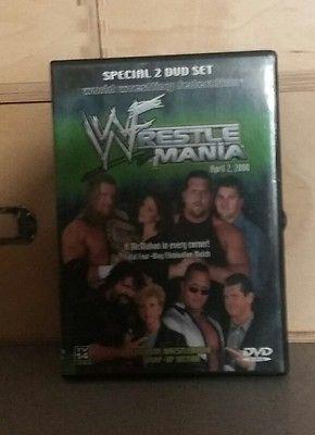 WWE WWF WRESTLEMANIA 2000 2 DISC DVD RARE