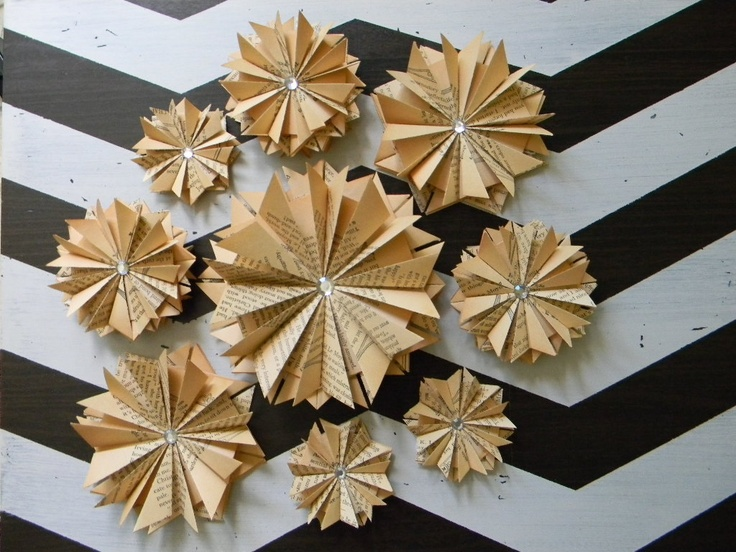 Fanned Book Pages Wall Decor