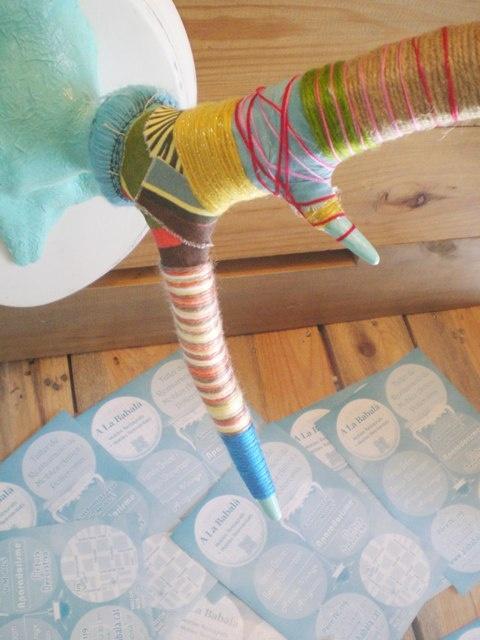 Antlers wool + decoupage