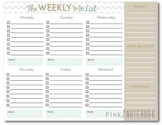 25 best FREE Printables Planners images on Pinterest Free - agenda planner template