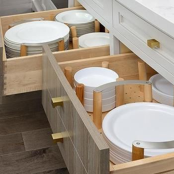Gray Island Drawers with Plate Dividers | Metal kitchen ...