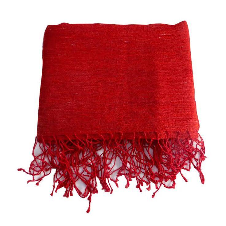 Couvre-lit rouge lin et coton plaid jeté de canapé 1.9 m x 1.92 m