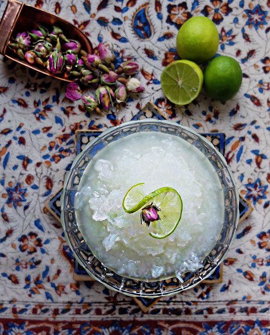 faridakitchen | Persian Faloodeh  with Rose Water and Lemon