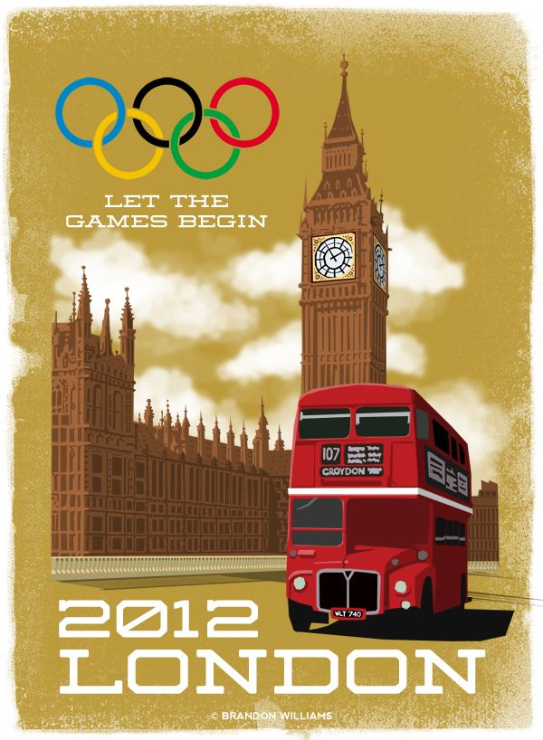 2012 London Olympic Poster Design by Brandon Williams, via Behance