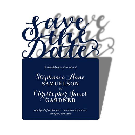 Everlasting Bliss - Signature Laser Cut Save the Dates - Alexis Mattox Design - Baltic - Blue : Front