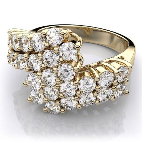 Diamantring mit 1.25 Karat Diamanten in 585er Gelbgold. Ein Diamantring von www.juwelierhausabt.de