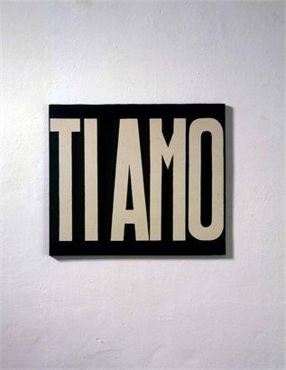 Ti amo by Michelangelo Pistoletto