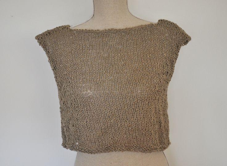 Mormorrut's raw linen waist top. Pattern at www.mormorrut.nu.
