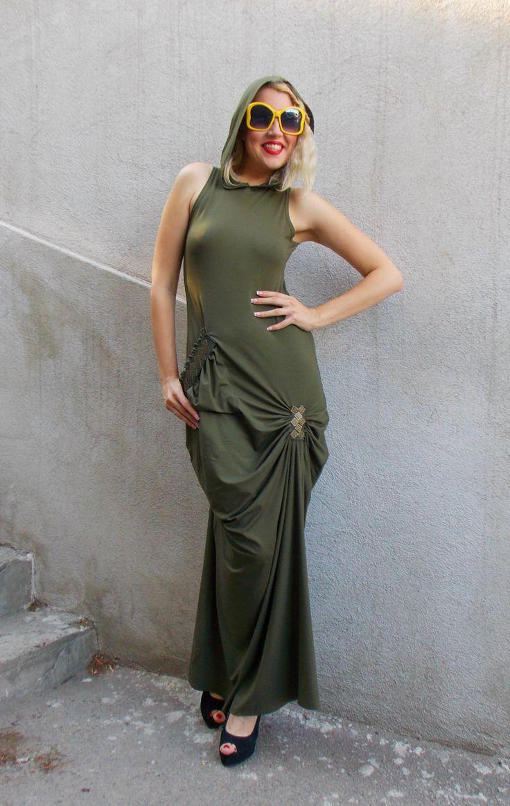 New in our shop! Khaki Maxi Dress, Backless Summer Dress, Asymmetrical Hooded Maxi Dress, Military Maxi Dress TDK129, Military Hoodie by TEYXO https://www.etsy.com/listing/237946341/khaki-maxi-dress-backless-summer-dress?utm_campaign=crowdfire&utm_content=crowdfire&utm_medium=social&utm_source=pinterest