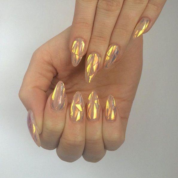 модный дизайн маникюра длядлинных ногтей