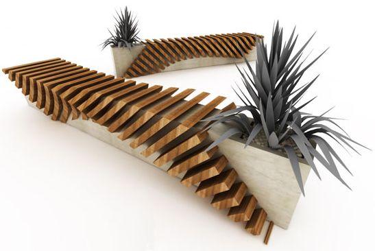 Diseño de bancos con espacio para la vegetación, Diseño de Juampi Sammartino