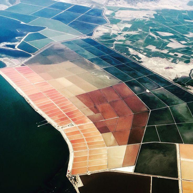 Salt fields near Izmir Turkey