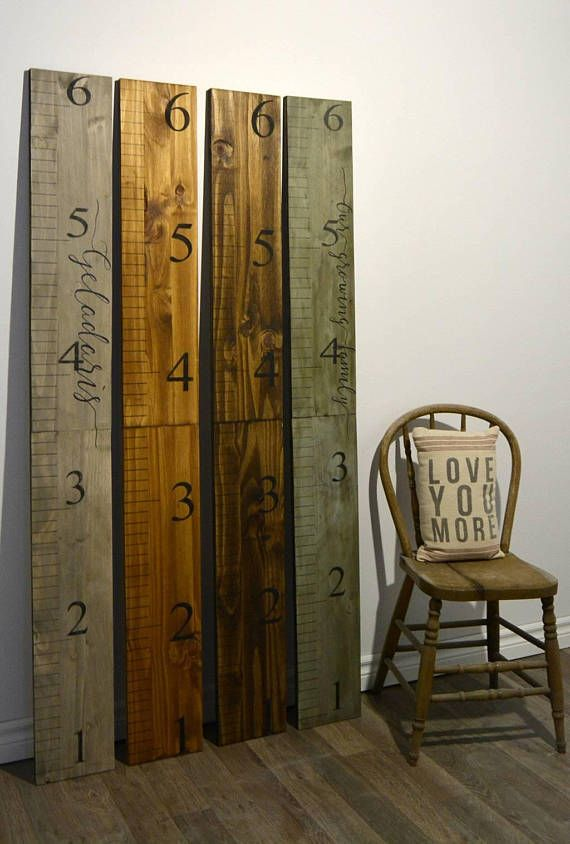 Check out this item in my Etsy shop https://www.etsy.com/ca/listing/510716549/wooden-growth-chart-rulers