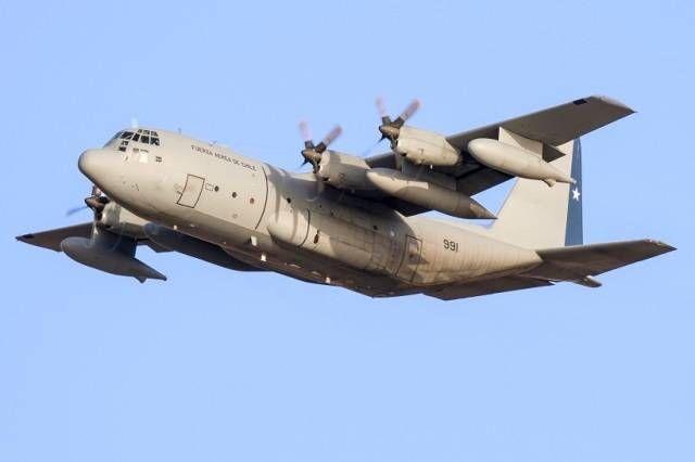 El último de los KC-130R Hercules de la Fuerza Aérea de Chile llega a Canarias procedente de Jordania