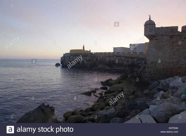 Download this stock image: Fort of Peniche during afternoon. Peniche, Portugal - K9TRG9 from Alamy's library of millions of high resolution stock photos, illustrations and vectors.