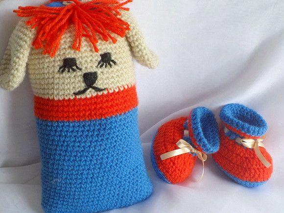 bdbfaa753 Fofíssimo Kit em crochê para presentear. Produto  Conjunto crochê bebê