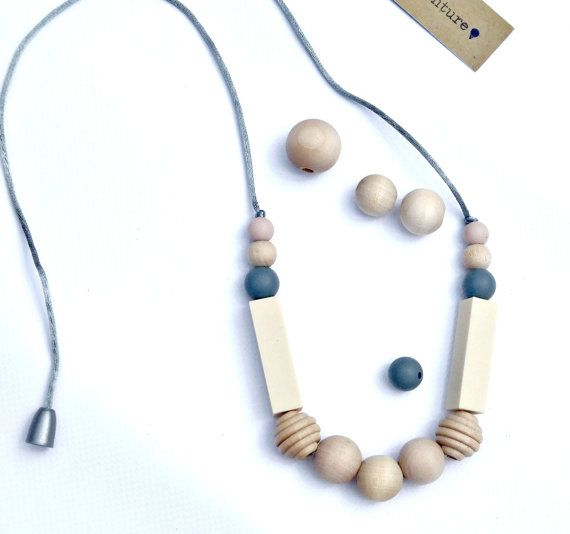 Silicone Teething Necklace for Mom/ Baby by InBetweenTheRaindrop