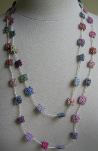long chips necklace-60