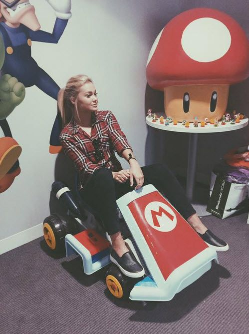 Photos: Olivia Holt Thankful To Nintendo July 7, 2015 - Dis411