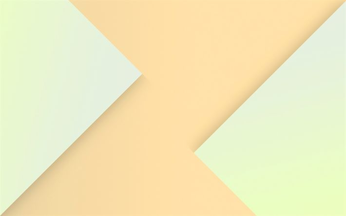 Download wallpapers beige abstraction, material design, android, geometric shapes, lines