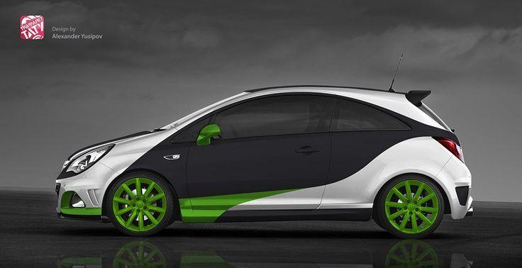Auto Opel Corsa Autofolierung Fahrzeugfolierung Und Fahrzeugbeschriftung