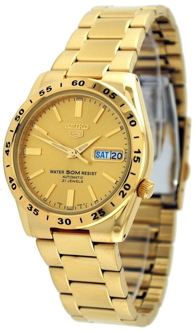 17 best images about gold watches submariner date gold watches for men seiko seiko 5 snke06 men s 50m gold tone self winding autoamtic