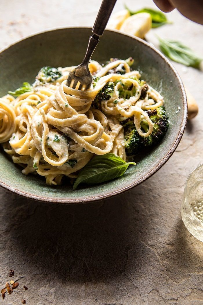 Try it with zoodles. No-Guilt Broccoli Fettuccine Alfredo #healthyeating #cleaneating #easymealrecipe