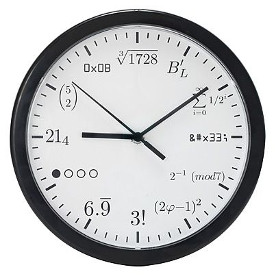 For the educated that needs a new way to tell time