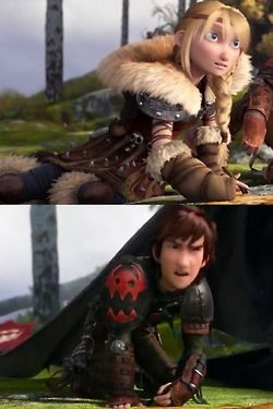 hiccup and astrid - anyone else think it was cute how astrid picked up marking right where hiccup left off?  And he didn't even miss a beat - that means this is something they've been doing together.
