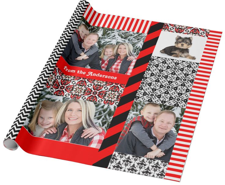 Add Your Own Favorite Photos - Christmas or Special Event Wrapping Paper