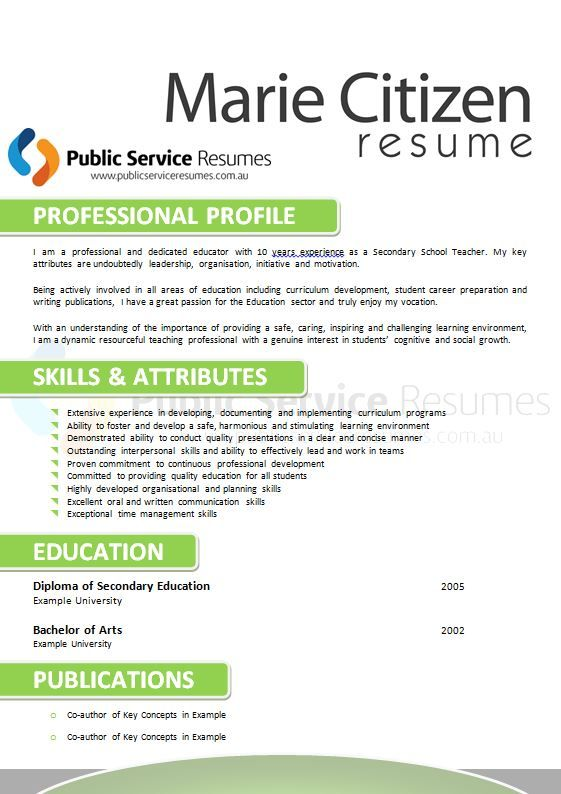 Within each state and territory within Australia, each has their own unique requirements for submissions. The resume must be the correct order and length and accurately communicate your relevant or transferable skills. The Public Service Resumes member will ascertain what should and should not be incorporated; customising your resume to the role you are applying for.