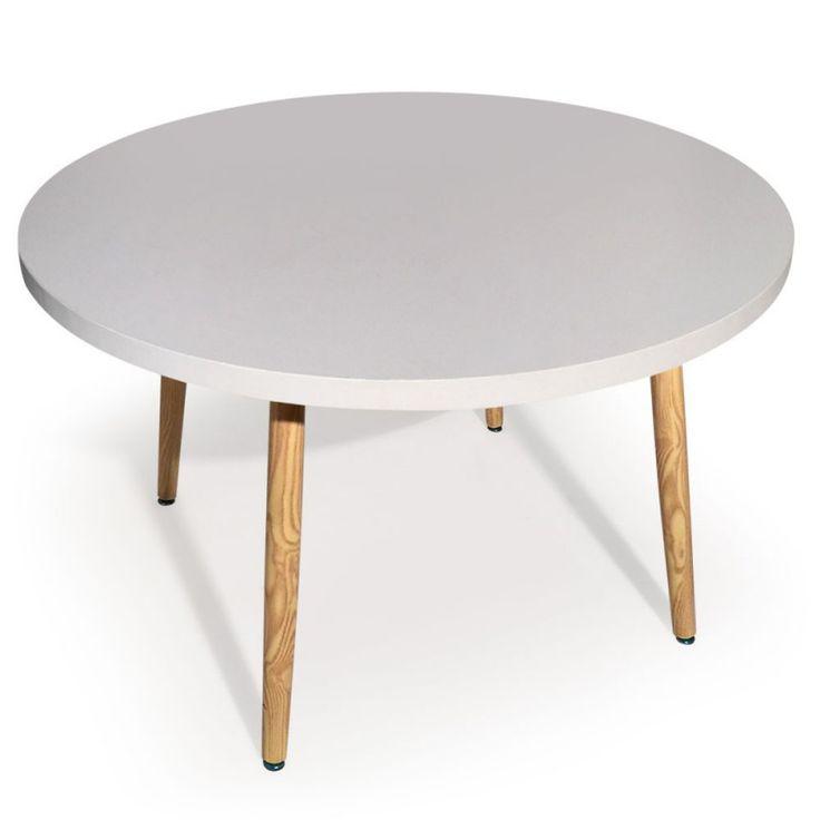Mesa redonda Nora estilo Nórdico Blanco