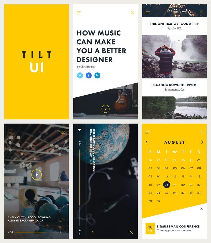 Tilt UI Kit Preview