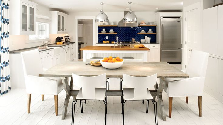 Nautical White Kitchen | Whether you're planning a complete kitchen overhaul or you're just looking for a few quick and easy updates, these creative kitchens are sure to inspire you. In the South, a beautiful kitchen is almost always the center of one's home and serves as the heart and soul of the house. Here, we are going to share our favorite kitchen inspiration for those looking for a refresh or starting new. There are many different types of kitchens that grace our pages each month.