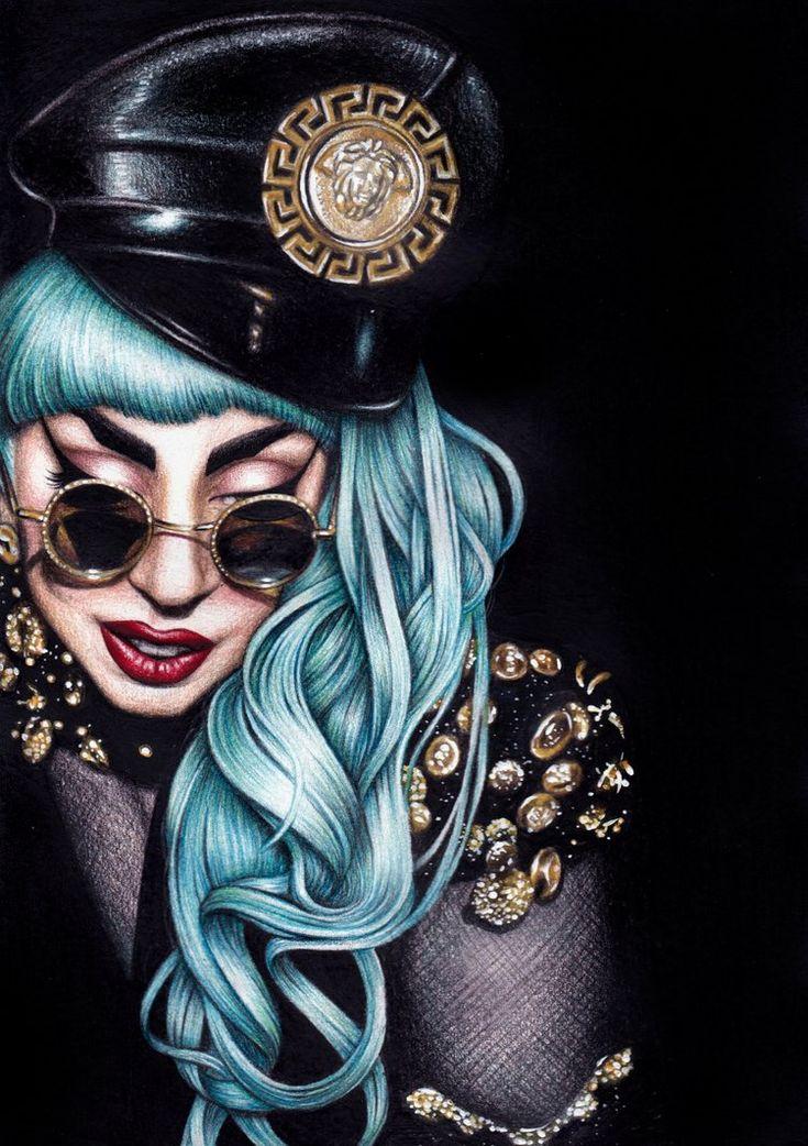 Lady GaGa by ~DendaReloaded on deviantART #Art #LadyGaga #CelebrityArt