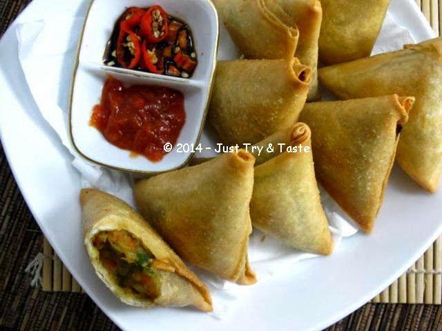 Just Try & Taste: Vegetarian Samosa dengan Bumbu Kari: Tetap sip markusip walau tanpa daging!