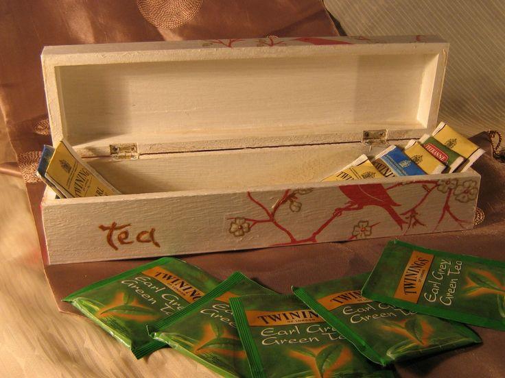 decoupage tea box