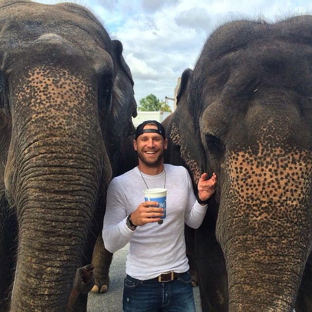 Chase Rice AND Elephants?! Could this picture be any better?!
