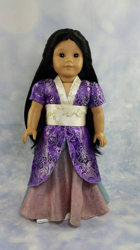 A stunning traditional Chinese outfit for your doll! Outside coat is made  out of purple … | Doll clothes american girl, American girl costume,  American doll clothes