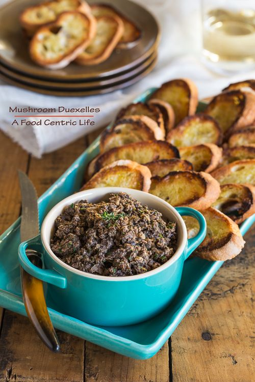 Classic French Duxelles, for the mushroom lovers in your life. Serve with crostini or gluten-free crackers for an appetizer, or use in many other ways.