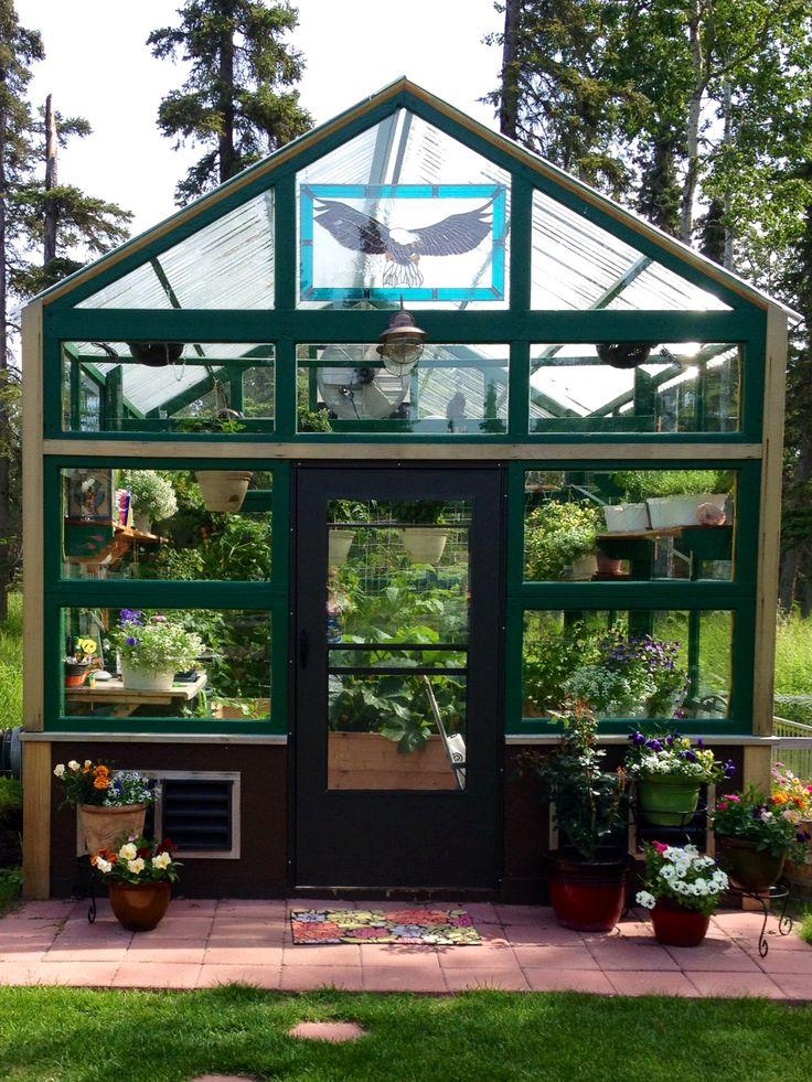 Reclaimed windows garage doors and greenhouses on pinterest for Reclaimed window greenhouse