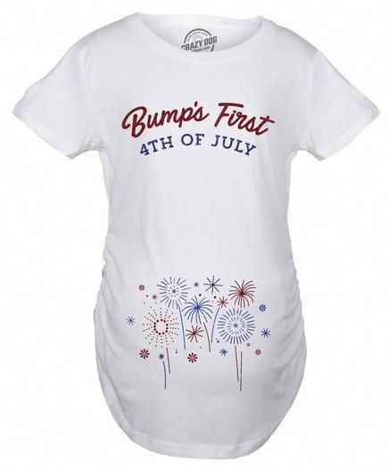 c772863a52b9c Bumps First 4th of July | cute tshirts Funny in 2019 | Pregnancy ...