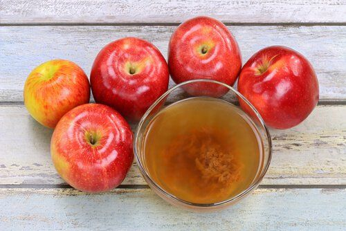 vinagre de manzana durante 5 días