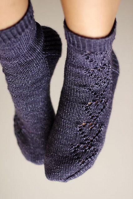 Pair of hearts socks (pattern available via Ravelry)