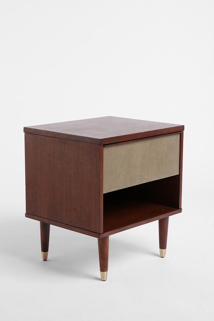 Slim round end table modern accent table with drawer calvin end table - The Audrey Side Table From Urban Outfitters Perfect As Nightstands